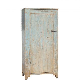 one door pale blue cabinet