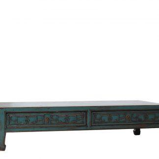 teal 4 drawer coffee table