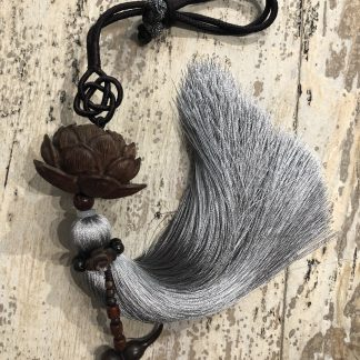 grey silk tassel