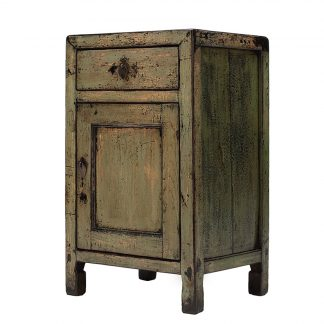 olive green cabinet