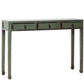 olive green table