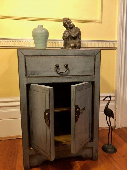 grey 1 drawer 2 door cabinet