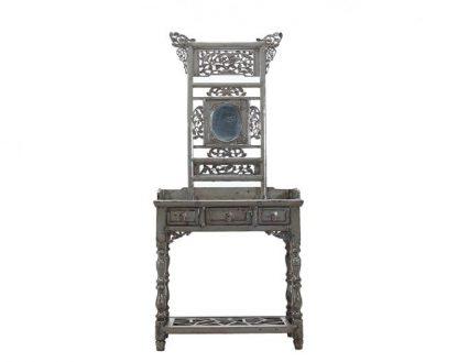 grey 3 door antique table