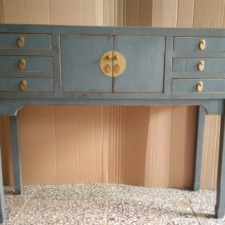 grey 6 drawer console table