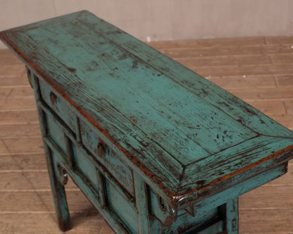 Teal blue console table