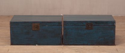 blue cabinet trunk