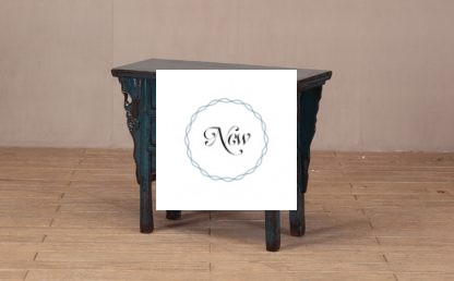 5 drawers blue console table