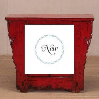 red 2 door cabinet