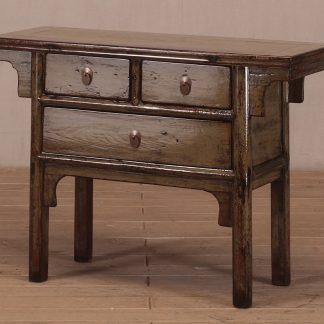 3 drawers console table