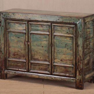Teal 3 door cabinet