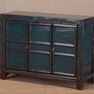 blue 3 door sideboard
