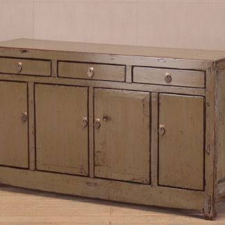 grey 4 door 3 drawer sideboard