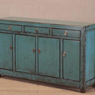 teal 4 door 3 drawer sideboard