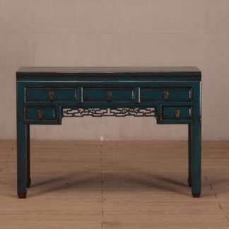 blue 5 drawer table
